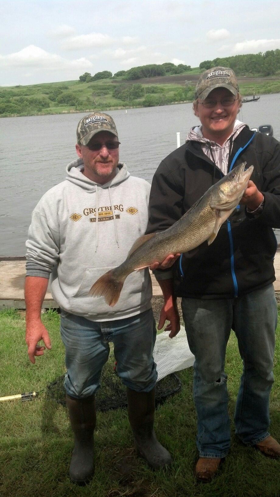 Nick and Dana Noot with Saturday's Big Walleye